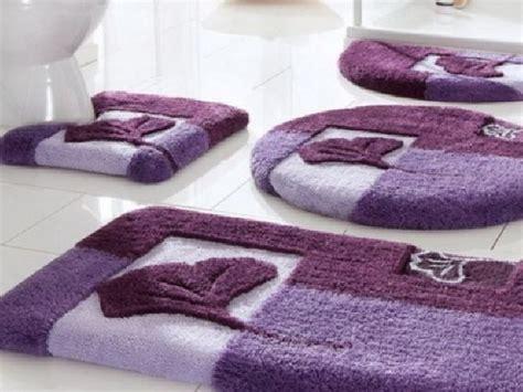 Purple Bathroom Rug Sets Purple Bathroom Rug Sets
