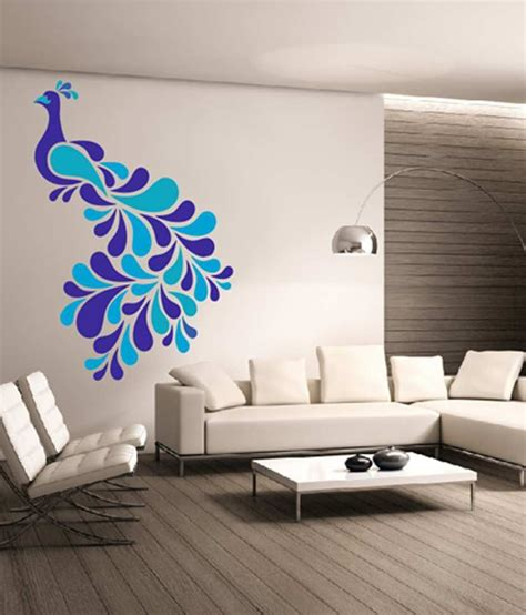 dream  walls decal colorful peacock wall stickers