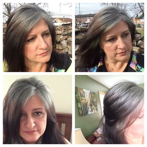 images of grey hair in transisition january 9 transition to gray 7 months gray is the