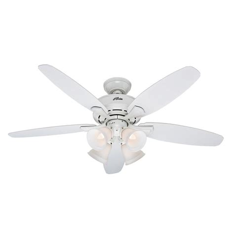 52 White Ceiling Fan With Light Landry 52 In White Ceiling Fan With Light Kit 52077 The Home Depot