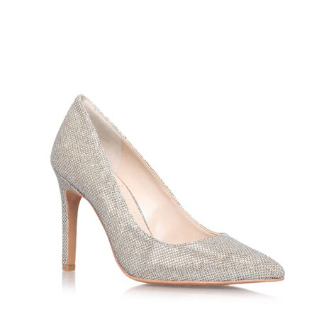 vince camuto high heels vince camuto lymon1 high heeled court shoes in white lyst
