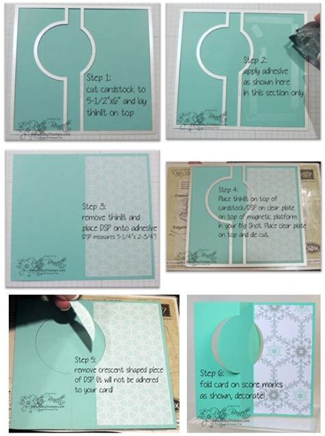 how to make a flip card 204 best su thinlits die cards images on