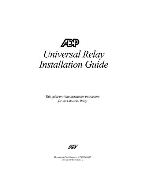 kronos universal relay wiring diagram wiring diagram