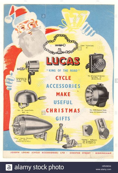 christmas gift advertisement gift advertisement leaflet for lucas cycle accessories stock photo royalty free image