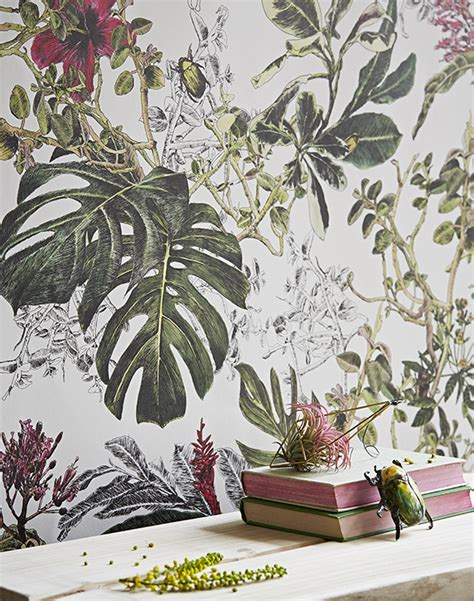 botanical interiors trend 2015 jungle wallpaper from seasons storytelling summer tropical floral wallpaper