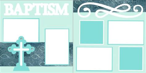 layout design for baptism baptism scrapbook pagekit 8 00 our scrapbook pagekits