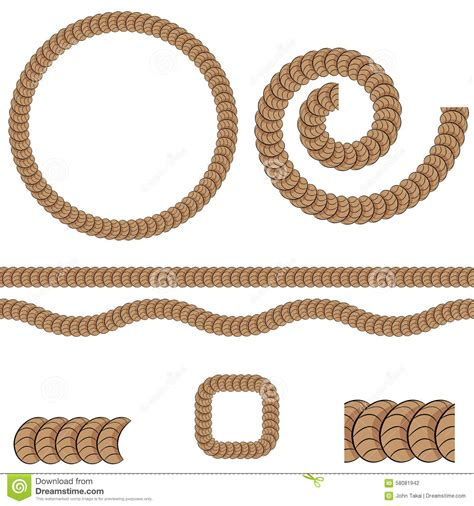 svg rope pattern repeating rope pattern icon stock vector image 58081942