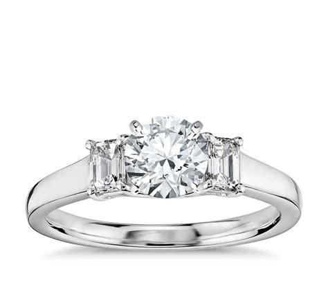truly zac posen three emerald cut engagement