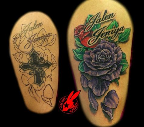 how to cover up a rose tattoo purple cover up www pixshark images
