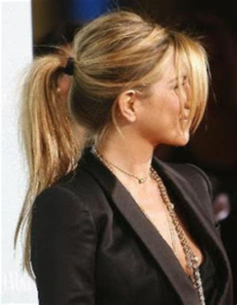 thin hair pony tail stylejusteasier good old ponytail
