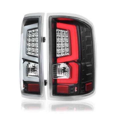2014 gmc sierra tail lights gmc sierra 1500 2014 2017 custom led tail lights black