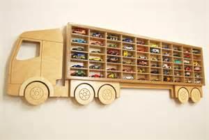 Wooden Truck Wheels Shelf Car Truck Shelf Model Car Shelving Unit Lorry