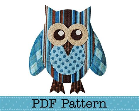 printable owl applique pattern 4 best images of free printable owl applique pattern