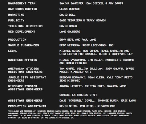 s day credit songs kanye west has released quot the of pablo quot album credits