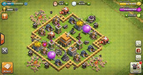 layout coc th 5 yang kuat thropy base clash of clans th 5 design base clash of