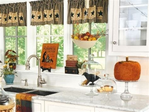 Fall Kitchen Curtains 37 Cool Fall Kitchen D 233 Cor Ideas Digsdigs