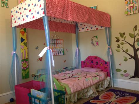 Canopy Toddler Beds For by Pvc Pipe Canopy Toddler Bed Baby Stuff For Greta