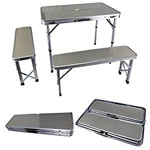 Portable Desk And Chair Combo by New Aluminum Fold Up Desk Table Seat Chair