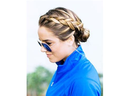 put your hair in a bun with braids 7 stay put hairstyles for your sweatiest workouts byrdie au