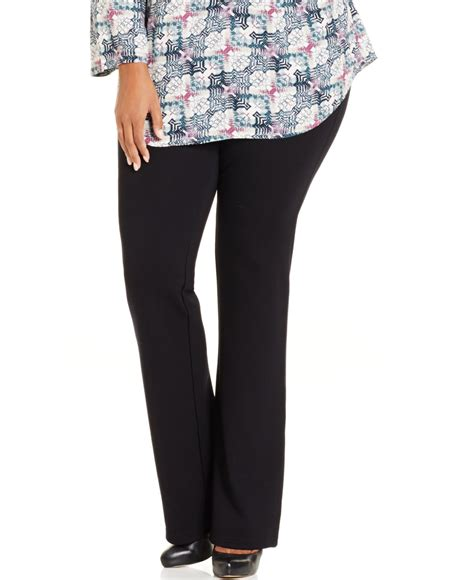 most comfortable designer jeans style co style co plus size pull on bootcut pants
