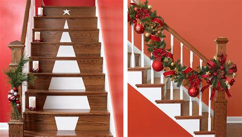 stair railing christmas ideas tree stair decoration