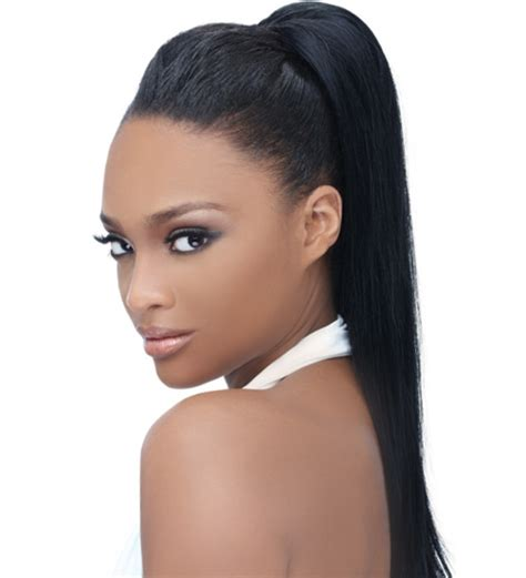 Ponytail Hairstyles Black Hair by Ponytail Hairstyles With Bangs For Black