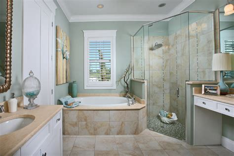 beach style bathroom the laurel cottage coastal design tropical bathroom