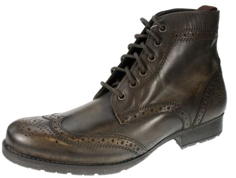 mens butley brown leather lace up brogue boots