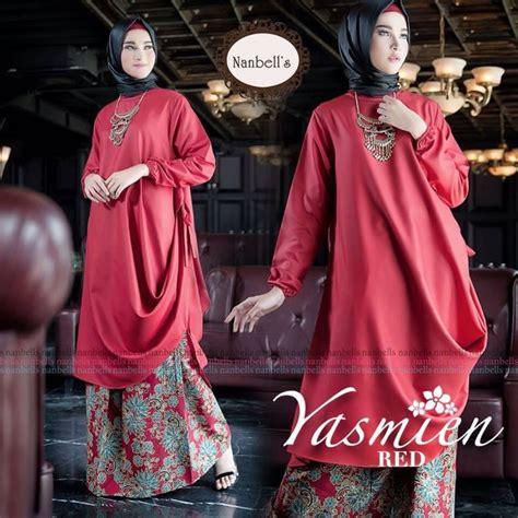 Sarimbit Gamis Batik Kombi Siffon gamis batik kombinasi kain polos model terbaru 2017