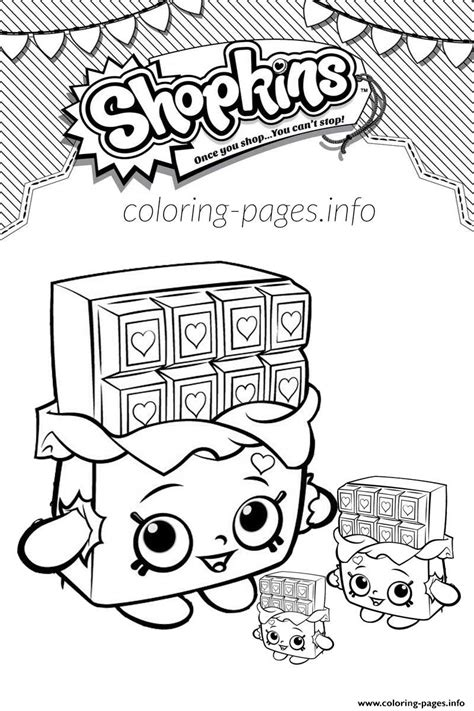 shopkins chocolate coloring page print shopkins cheeky chocolate and babies coloring pages