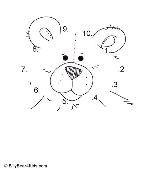 printable dot to dot 1 10 teddy bear dot to dot numbers 1 10 design pinterest