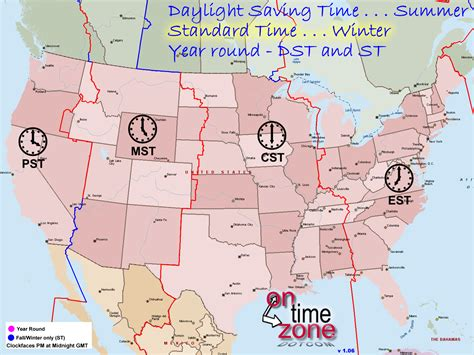 time zones in the united states map ontimezone time zones for the usa and america