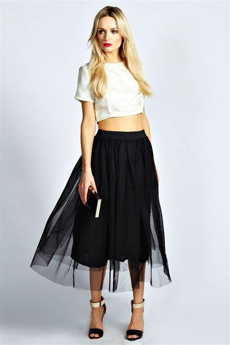 colette a line midi skirt black black shopping
