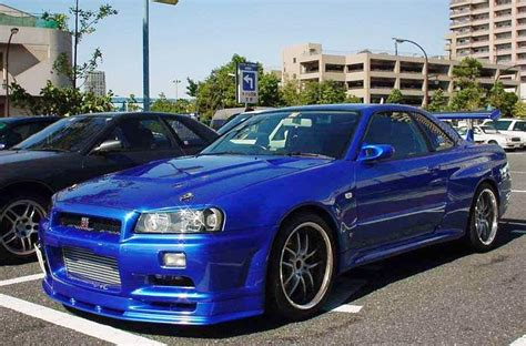 blue nissan skyline fast and furious nissan skyline r34 gt r fast and furious 4 car auto car