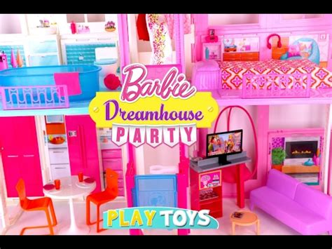 dolls house set glam barbie doll house tour kids how to set up barbie house mansion toy play for