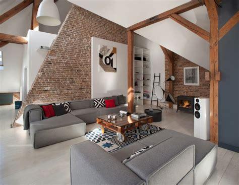 Mur Salon En by Salon Moderne Avec Murs En Briques