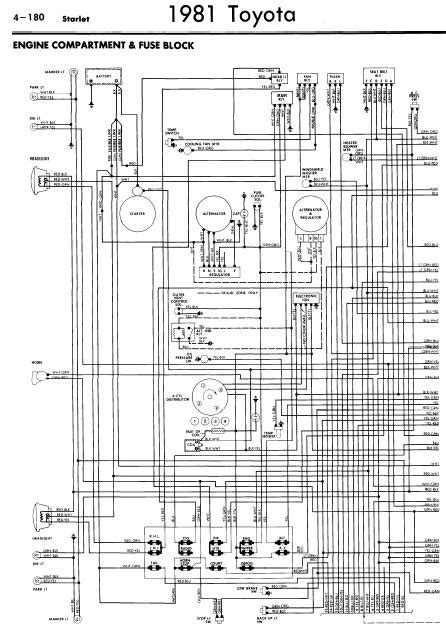 Toyota Starlet 1981 Wiring Diagrams | Online Manual Sharing