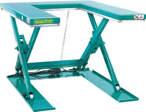 low profile mobile lift table u lift ground entry hydraulic lift table
