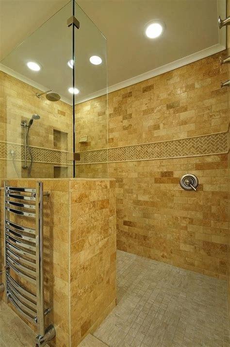 doorless walk  shower ideas walk  shower bathroom