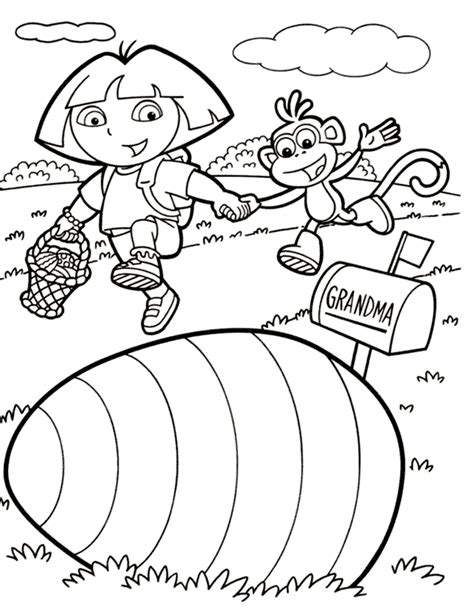 Dora Coloring Pages Cutecoloring Com The Explorer Printable Coloring Pages