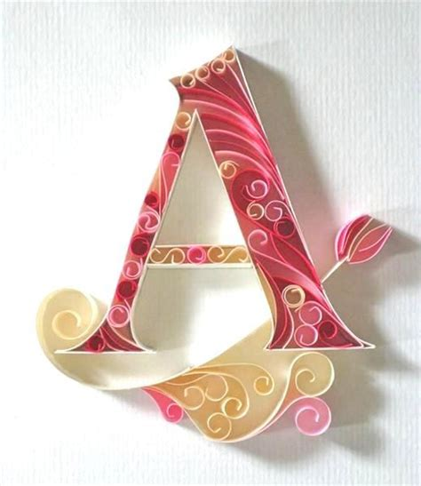 beautiful images of letters quilling letters paper quilling and quilling on pinterest
