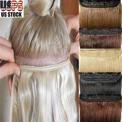 easy diy weft clip   real human hair extensions