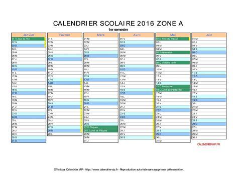Vacances Scolaires Calendrier 2016 Calendrier Scolaire 2016 224 Imprimer Gratuit En Pdf Et Excel