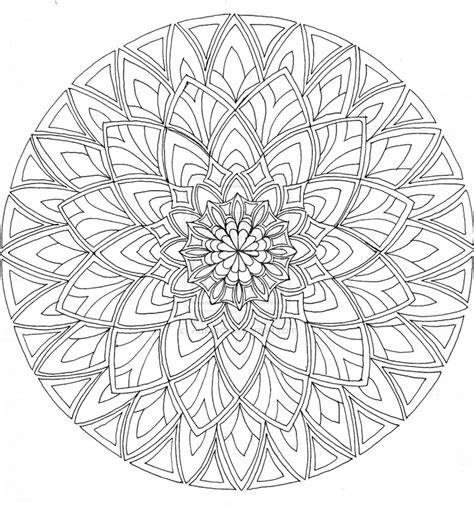mandala coloring pages difficult mandala coloring pages for relaxation simple mandala