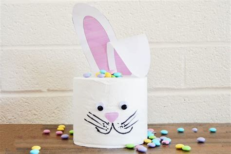 Toilet Paper Easter Bunny Craft - make a toilet paper easter bunny 187 dollar store crafts