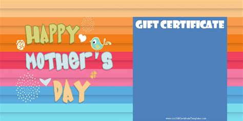 S Day Gift Cards Templates by S Day Gift Certificate Templates