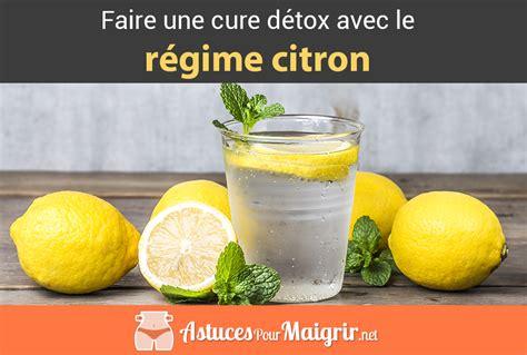 Faire Une Detox by Cure De D 233 Tox Avec Le R 233 Gime Citron Astuces Pour Maigrir