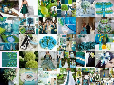 blue and green wedding decorations ideas nisartmacka