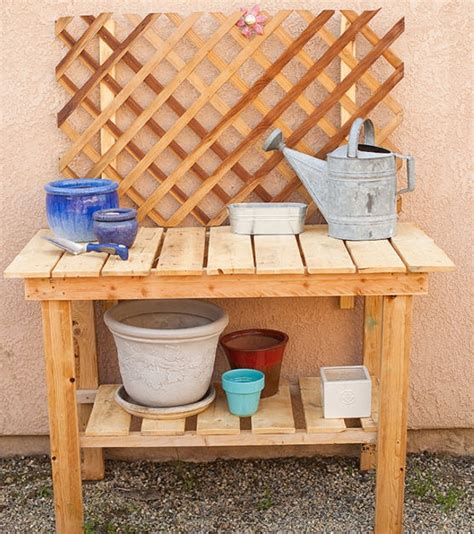wood pallet potting bench wood pallet potting benches pallet ideas recycled