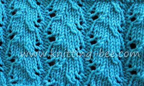lace knitting stitch patterns free ribbed lace knitting stitch by knitting bee www